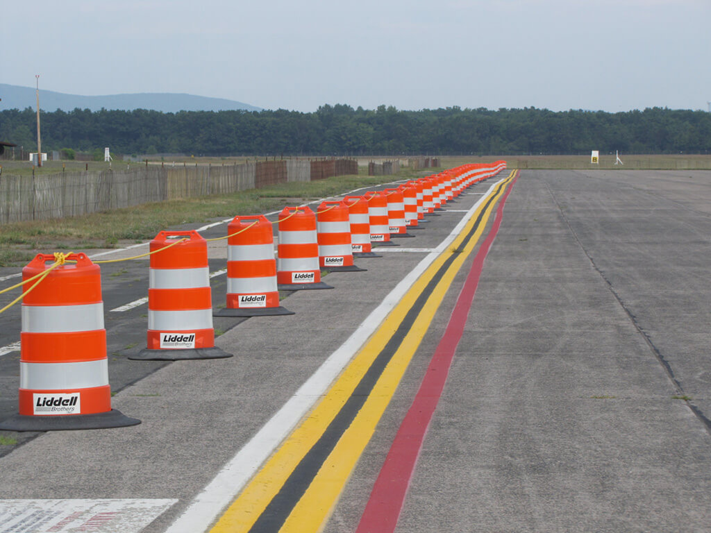 liddell leasing traffic barrels Westover Air Base in Chicopee MA