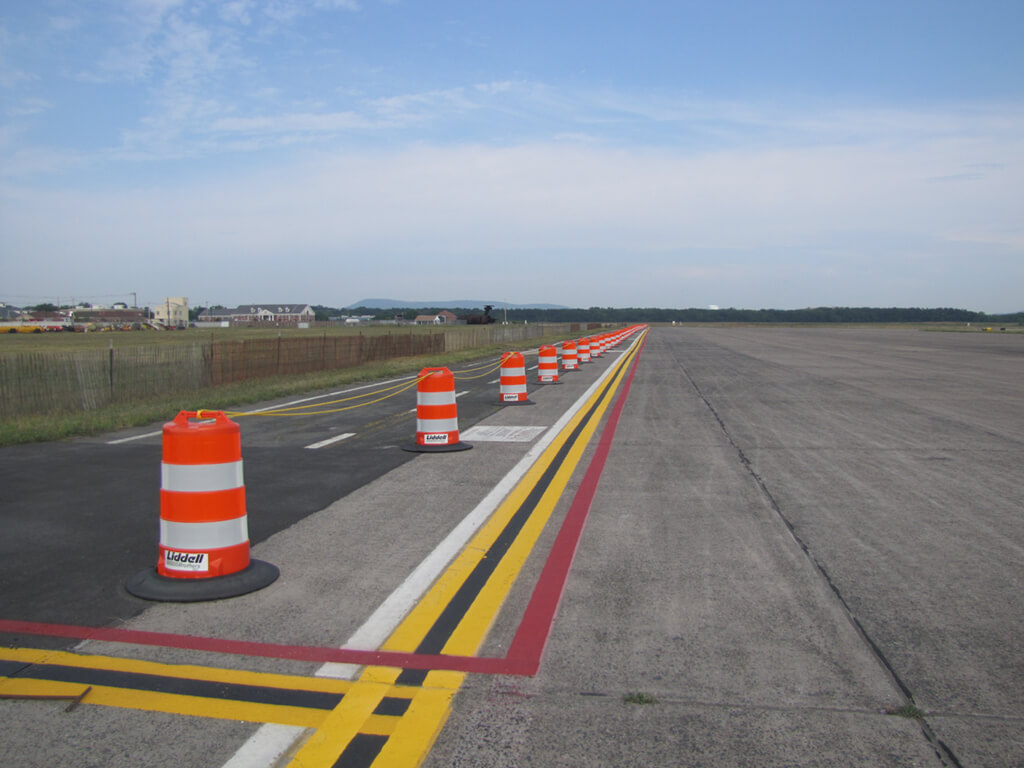 liddell leasing traffic barrels Westover Air Base in Chicopee MA 2