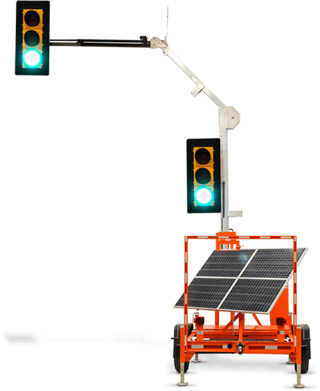 Liddell Leasing temporary traffic signals and portable traffic signals